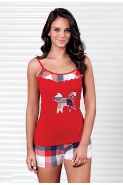 Pižama su marškinėliais plonomis petnešėlėmis (S401_20)