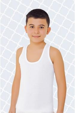 Tampraus trikotažo balti marškinėliai (OTS1211_1)