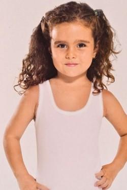Balti apatiniai marškinėliai mergaitėms (OTS3236_1)
