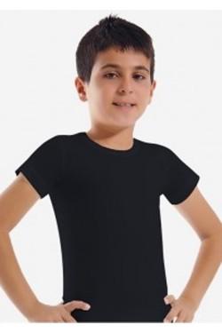 Juodi vaikiški marškinėliai
