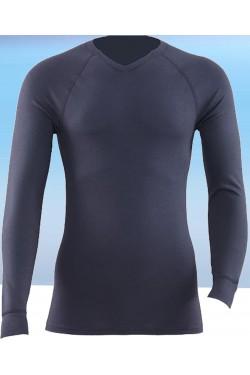 Termo marškinėliai su V iškirptės kaklu (ST104_36)