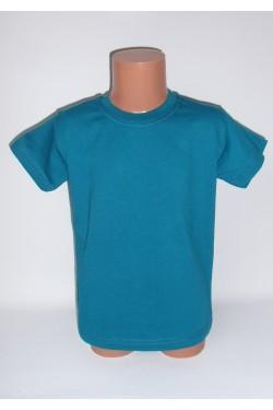 Vaikiški tamsiai mėtinės spalvos marškinėliai (SAZE_33)