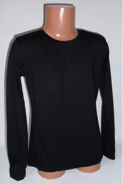 Juodi marškinėliai ilgomis rankovėmis (ECE701)