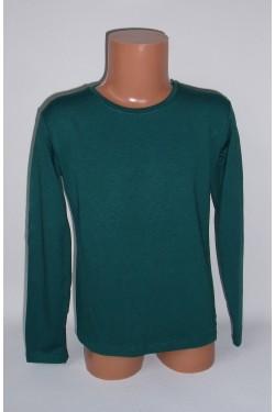 Tamsiai žali marškinėliai ilgomis rankovėmis (ECE701)