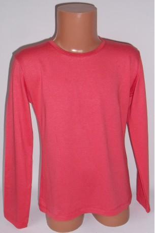 Koralinės spalvos marškinėliai ilgomis rankovėmis (ECE701)