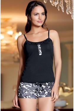 Pižama su marškinėliais plonomis petnešėlėmis (S469_20)