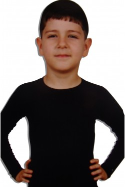 Juodi ir balti marškinėlliai vaikams su elastanu (DON3250_6)