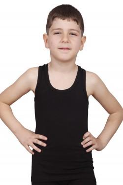 Juodi marškinėlliai be rankovių (DON3210)