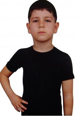 Juodi ir balti marškinėlliai vaikams trumpom rankovėm (DON3240_5)