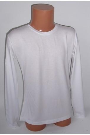 Balti marškinėliai ilgomis rankovėmis (ECE701)