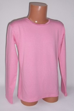 Šviesiai rožiniai marškinėliai ilgomis rankovėmis (ECE701)