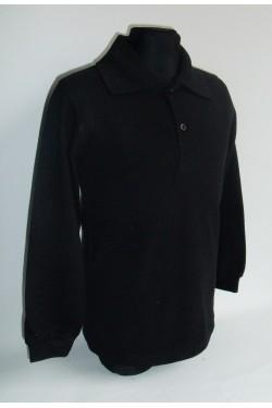 Polo marškinėliai ilgomis rankovėmis (Spalva: juoda)