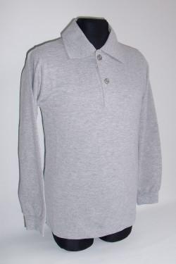 Polo marškinėliai ilgomis rankovėmis (Spalva: pilka)