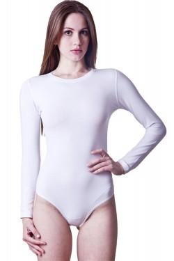 Baltas ir juodas triko ilgomis rankovėmis (D2340_18)