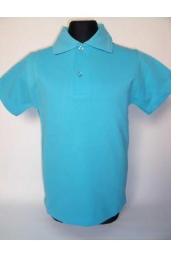 Polo marškinėliai trumpomis rankovėmis (Spalva: žydra)