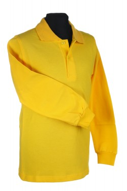 Polo marškinėliai ilgomis rankovėmis (Spalva: Geltona)