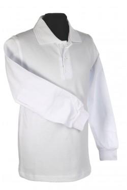 Polo marškinėliai ilgomis rankovėmis (Spalva: Balta)