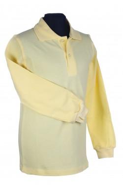 Polo marškinėliai ilgomis rankovėmis (Spalva: Šviesiai geltona)
