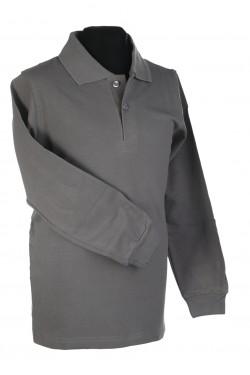 Polo marškinėliai ilgomis rankovėmis (Spalva: Tamsiai pilka)