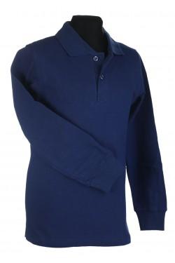 Polo marškinėliai ilgomis rankovėmis (Spalva: Džinso)