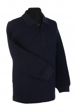 Polo marškinėliai ilgomis rankovėmis (Spalva: Tamsiai mėlyna)