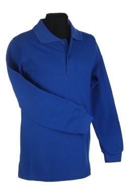 Polo marškinėliai ilgomis rankovėmis (Spalva: mėlyna)