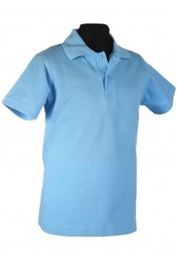Polo marškinėliai trumpomis rankovėmis (Spalva: šviesiai mėlyna)