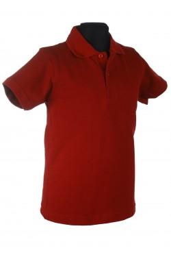 Polo marškinėliai trumpomis rankovėmis (Spalva: bordinė)