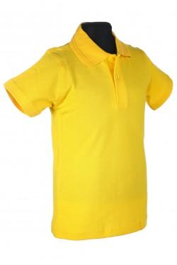 Polo marškinėliai trumpomis rankovėmis (Spalva: geltona)