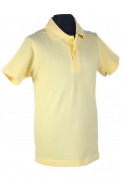 Polo marškinėliai trumpomis rankovėmis (Spalva: šviesiai geltoni)
