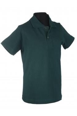 Polo marškinėliai trumpomis rankovėmis (Spalva: tamsiai žalia)
