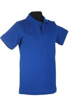 Polo marškinėliai trumpomis rankovėmis (Spalva: mėlyna)