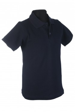 Polo marškinėliai trumpomis rankovėmis (Spalva: tamsiai mėlyna)