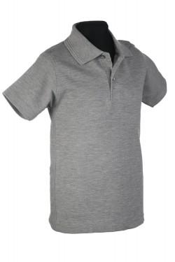 Polo marškinėliai trumpomis rankovėmis (Spalva: šviesiai pilka)