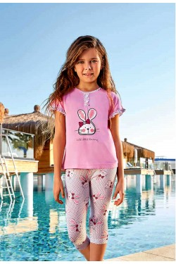 Pižama mergaitėms su bridžais (BER6570)