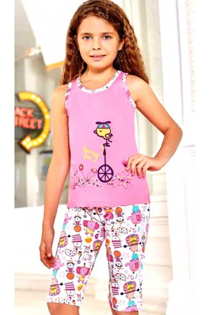 Pižama mergaitėms su bridžais (BER6567)