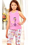 Pižama mergaitėms su bridžais (BER6557)
