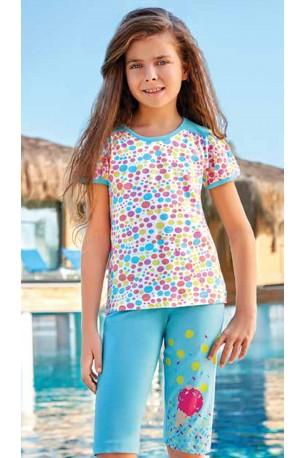 Pižama mergaitėms su bridžais (BER6554)