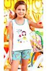 Pižama mergaitėms su šortukais (BER6554)