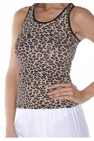 Leopardinių raštų marškinėliai (V408)