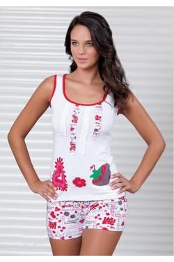 Pižama su marškinėliais plačiom petnešėlėm (S431_19)