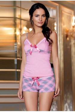 Pižama su rožiniais marškinėliais (S475_20)